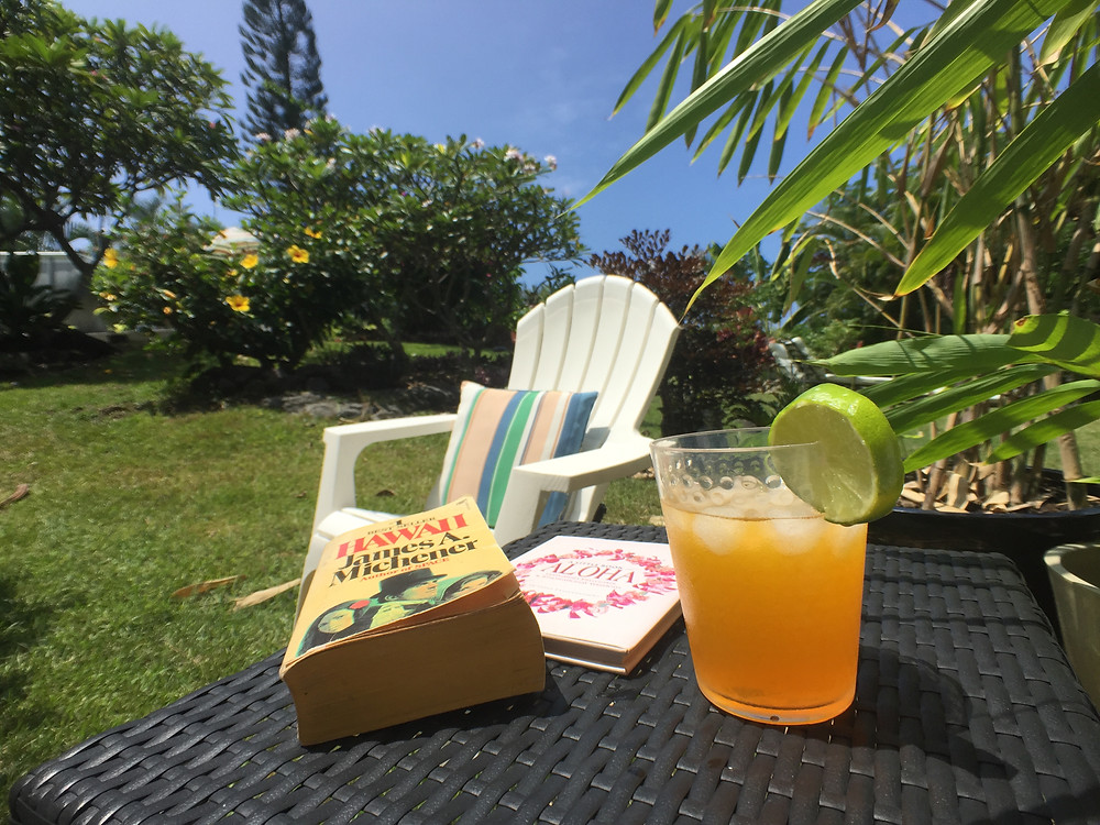 Chill out with a book and a cool cocktail in Kona, Hawaii