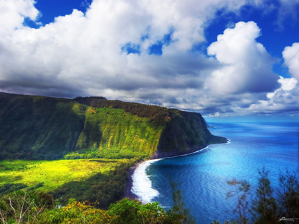 Waipio Valley overlook Big Island Hawaii
