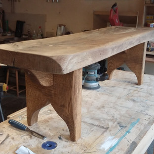 Solid Oak Bench Seat