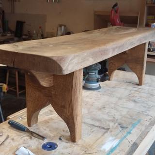 Solid Oak Bench Seat
