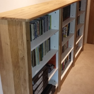 Oak Wrapped Fitted Bookcase