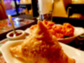 Our Moutwaterng Everyone's Favrourite Samosa and Onion Bhurje