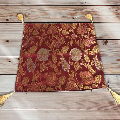 トルコ クッションカバーlux ottoman floral red