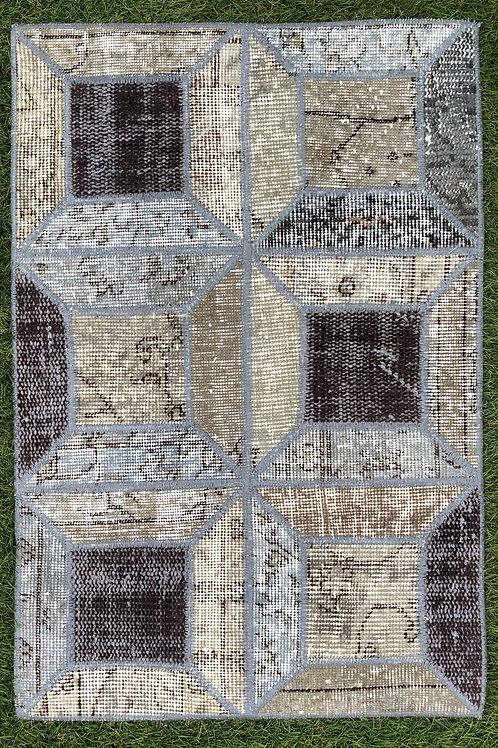 トルコパッチワーク絨毯玄関マット60x90cm