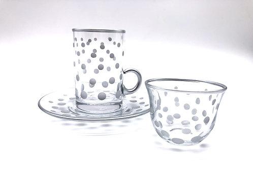トルコチャイグラスとトルココーヒーカップ セット(持ち手付き)13
