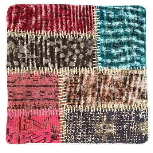 トルコ絨毯パッチワーククッションカバー