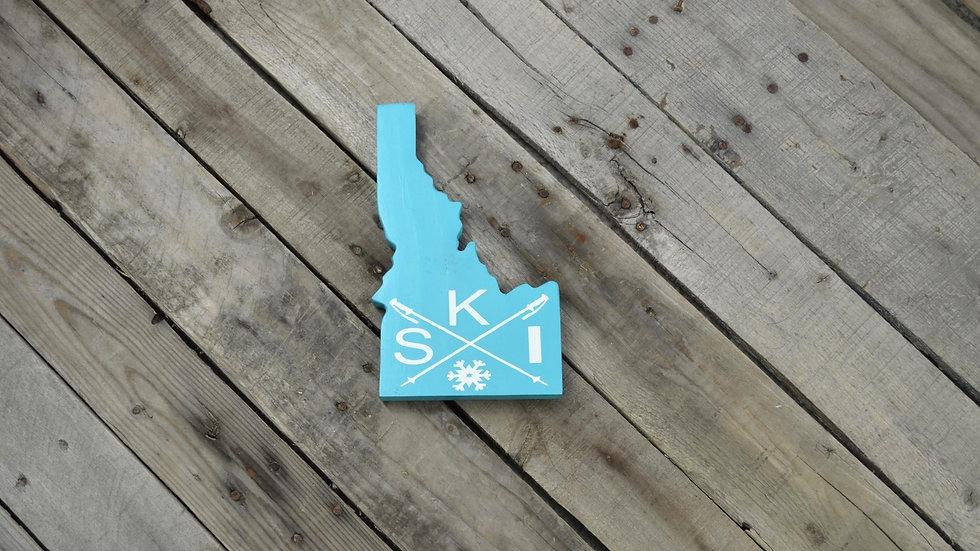 Idaho Cutout Sign - Ski