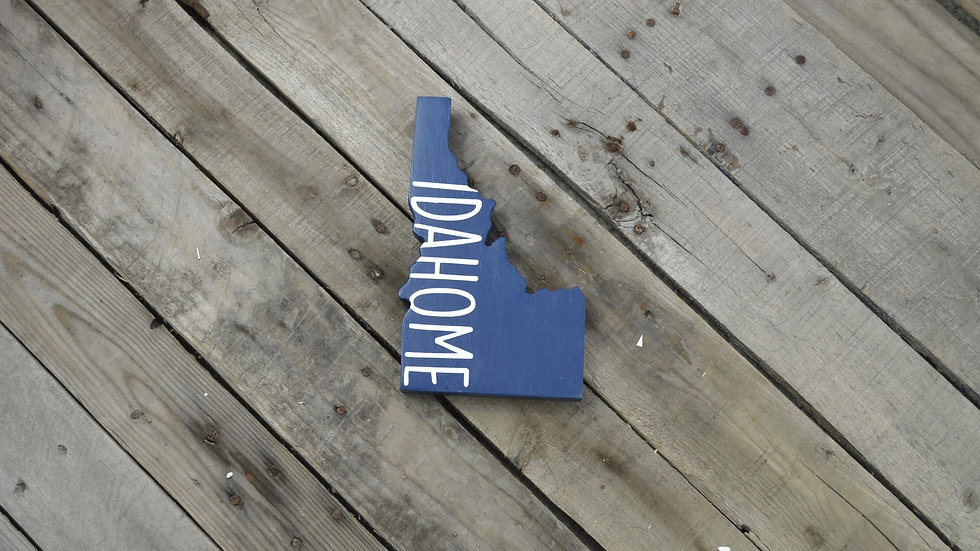 Idaho Cutout Sign - IDAHOME