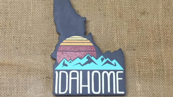 Idaho Cutout Sign - Sunset Idahome