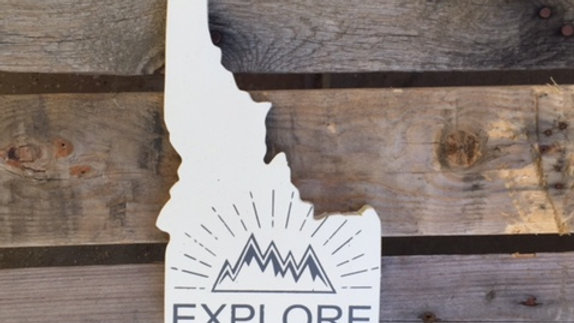 Idaho Cutout Sign - EXPLORE