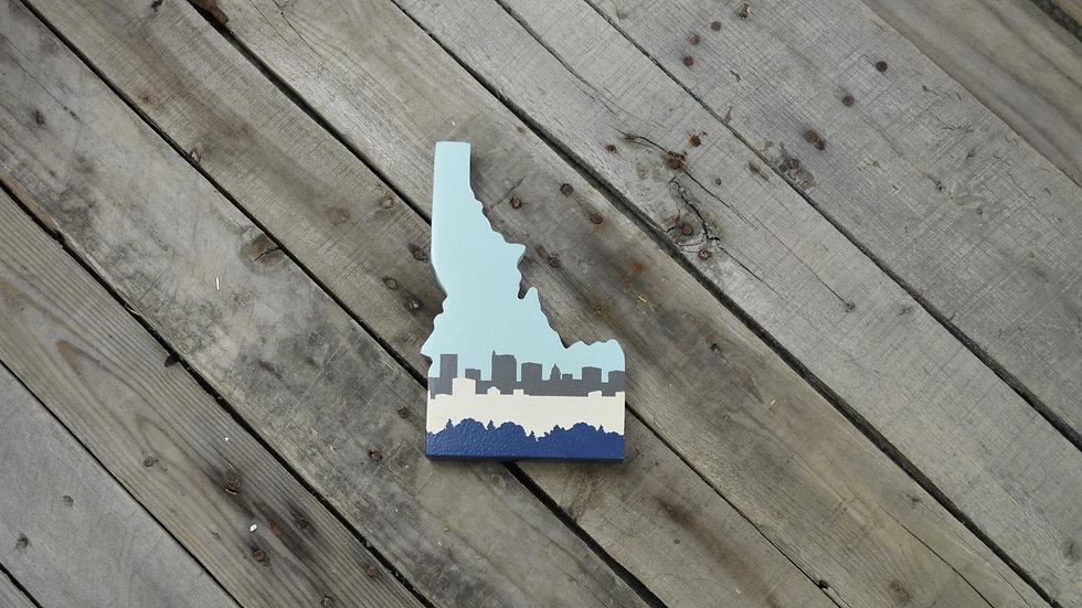 Idaho Cutout Sign - Boise Skyline