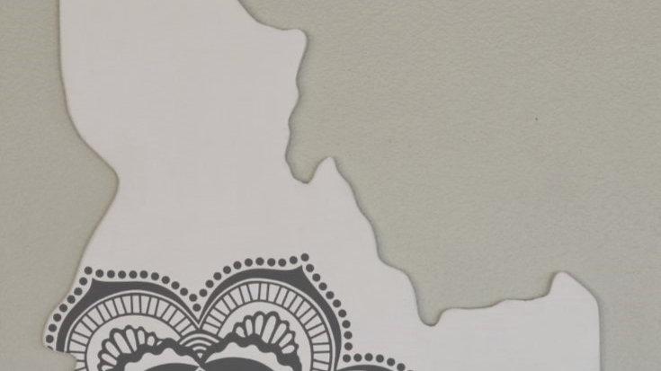 Idaho Cutout Sign - Mandala