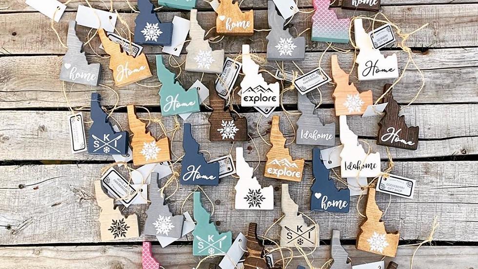 Idaho Cutout Ornaments
