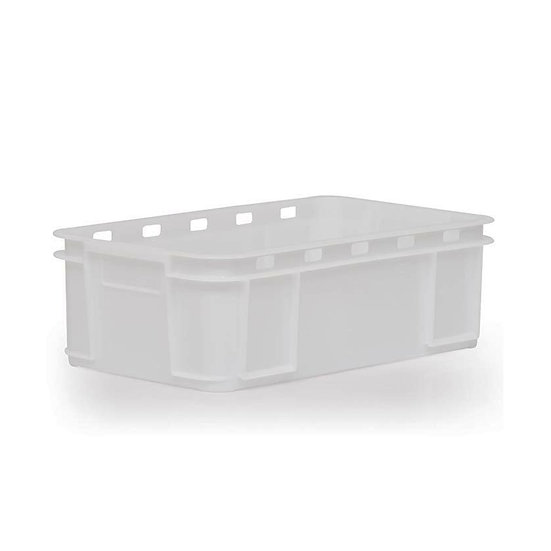 Solid Stacking Tray with top hole perforations 38 Litre