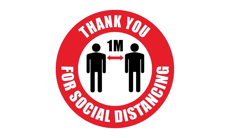 1 Metre Social Distance Floor Markers