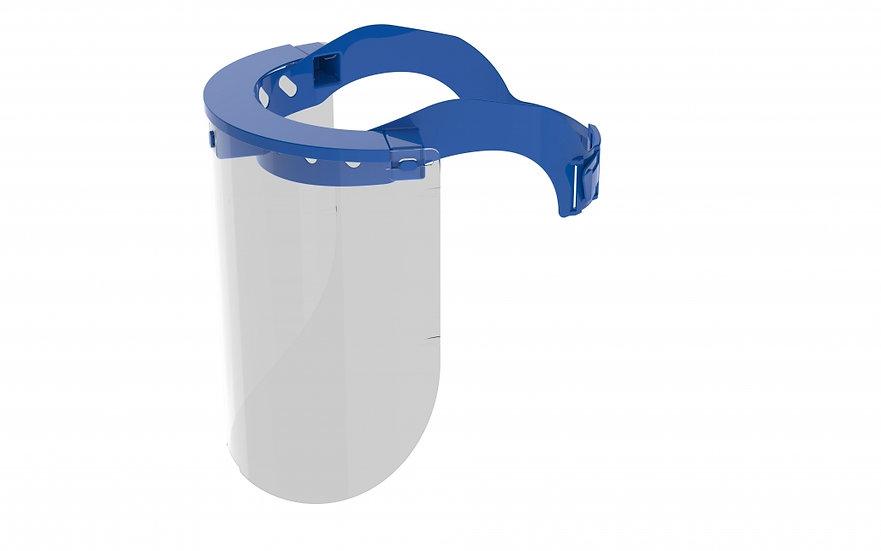 Blue reusable face shield