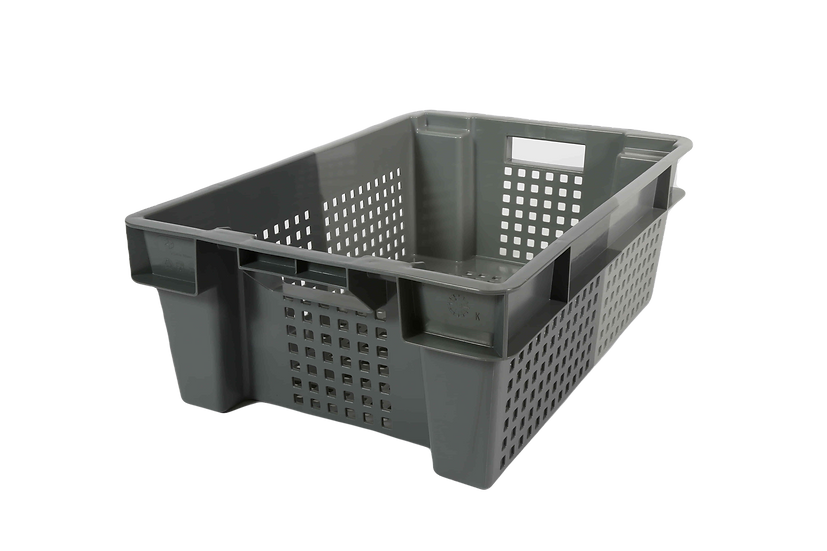 Two Tone Stacking and Nesting Tray Perforated - 32 Litres