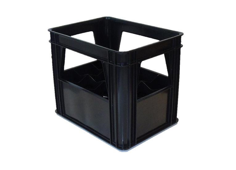 Bottle crate black 1 litre