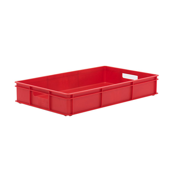 "Plastic Bakery Tray (30x18"") - Solid sides and base with hand holes"