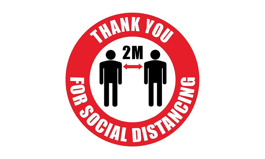 2 Metre Social Distance Floor Markers