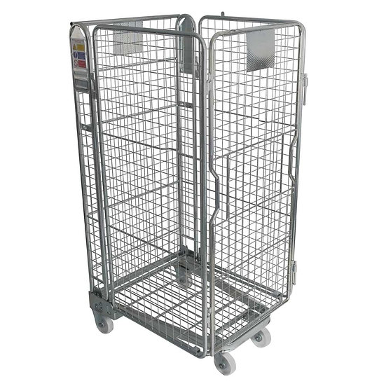 Nestable Roll Cage 4 Mesh Sides