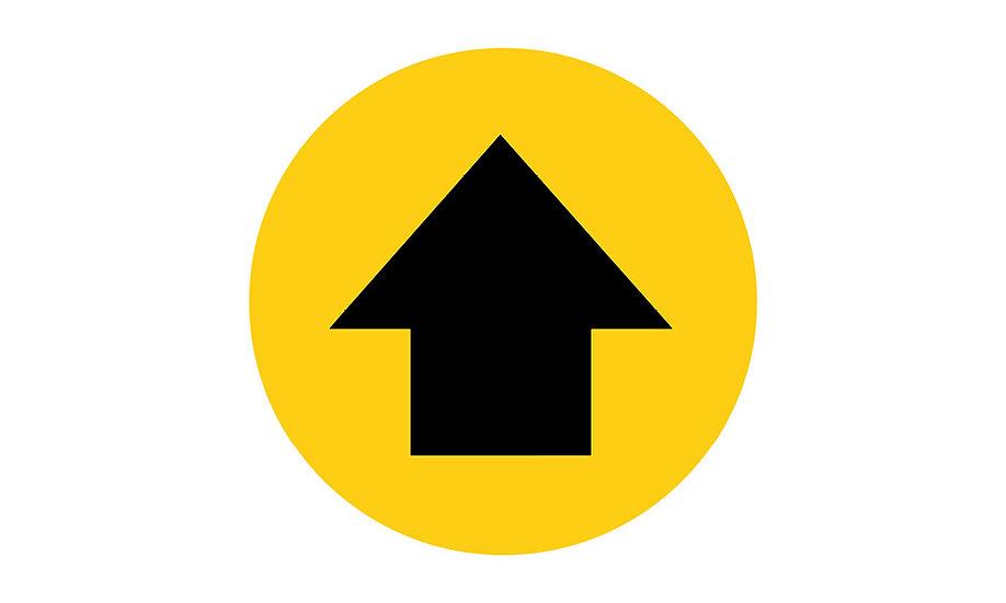 Social Distance Floor Marker Directions