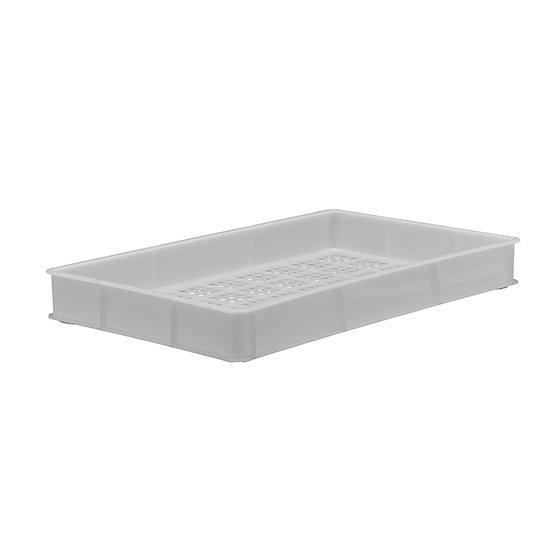 "Bakery Tray (30x18"") - Solid sides perforated base"