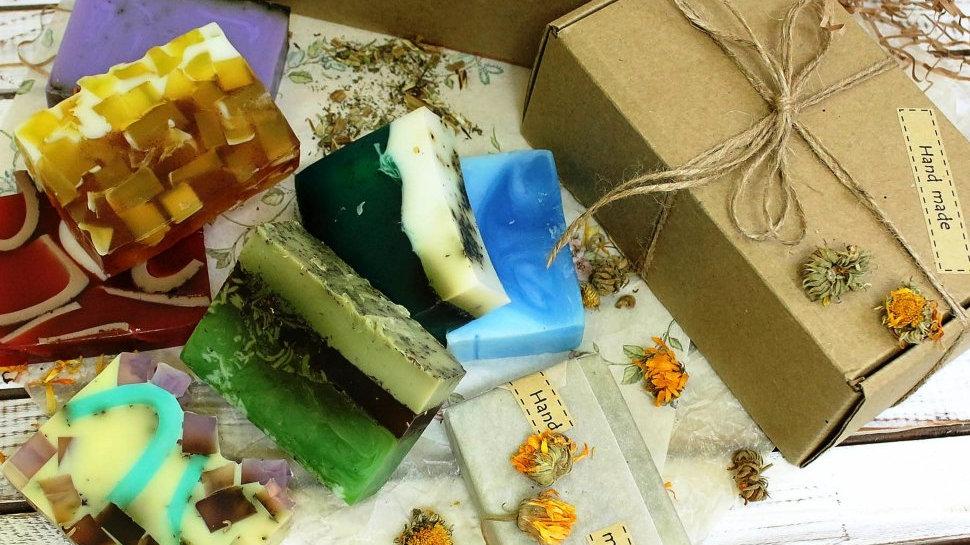 Мужской Крафт набор мыла ручной работы в стиле Эко