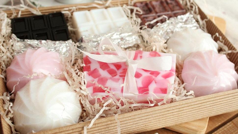 Большой набор мыльных сладостей Зефир и шоколад
