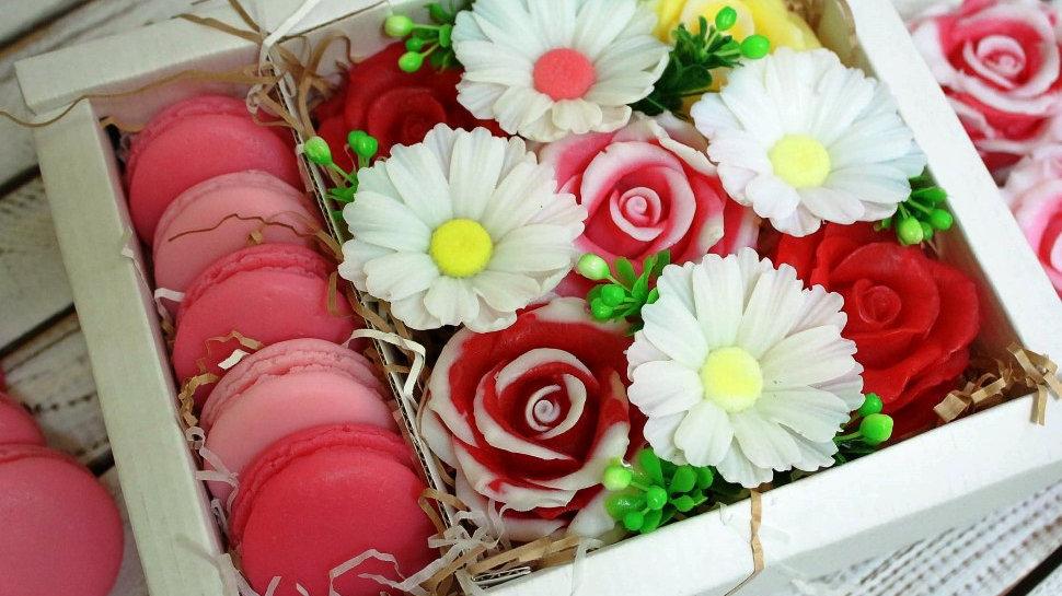 Подарочный набор мыла ручной работы Букет со сладостями
