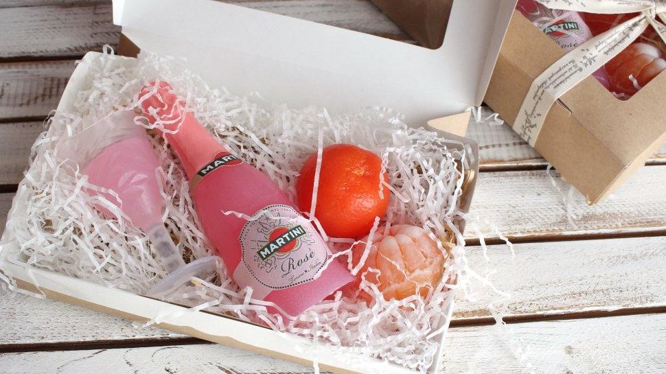 Подарочный набор мыла ручной работы Мартини