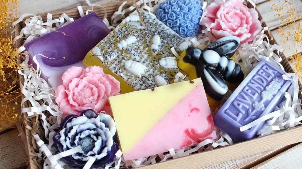 Подарочный набор мыла ручной работы Медовый