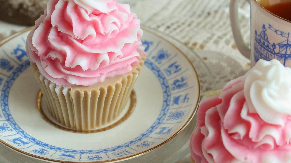 Пирожное из мыла Маффин