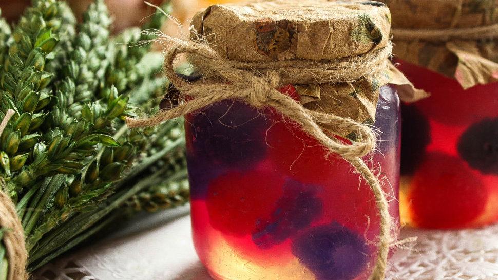 Подарочное мыло ручной работы Ягодное варенье