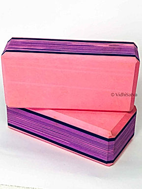 Yoga Block Pack of 2 High Density EVA Foam Block to support and Deepen Poses