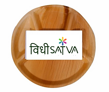 palm leaf plates | 12 inches | Pack of 5 | Eco-friendly | Disposable
