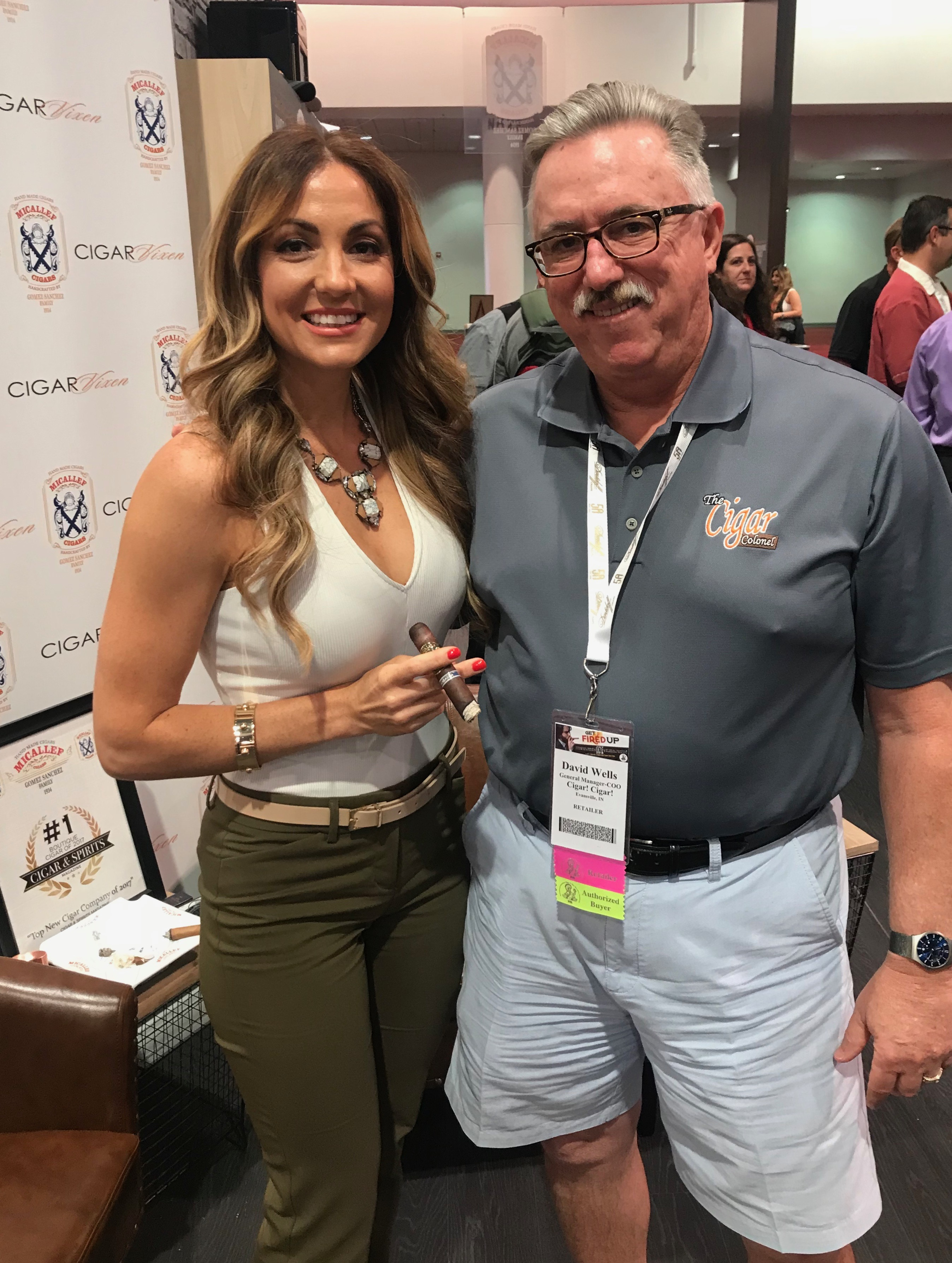 The Colonel with Cigar Vixen