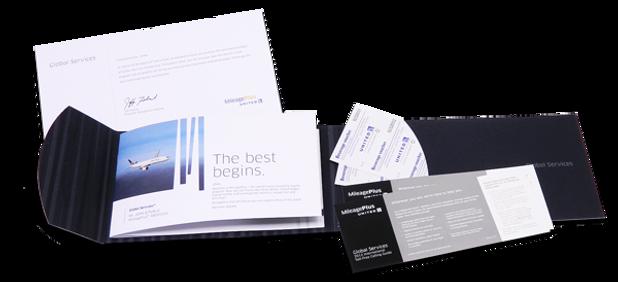 United MileagePlus Rewards elite brochure with inserts