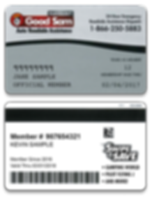 DoD Plastic Card Sample