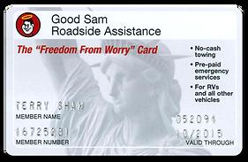 Embossed Good Sam membership card