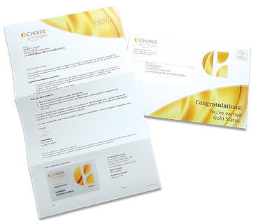 Choice Privileges Gold Membership Mailer