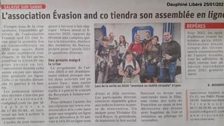 Revue de presse : Dauphiné Libéré du 25/01/2021