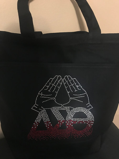 Hands Up Large Tote with Front Pockets