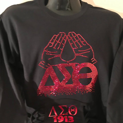 Hands Up Long Sleeve Delta Tee with Matching Mask