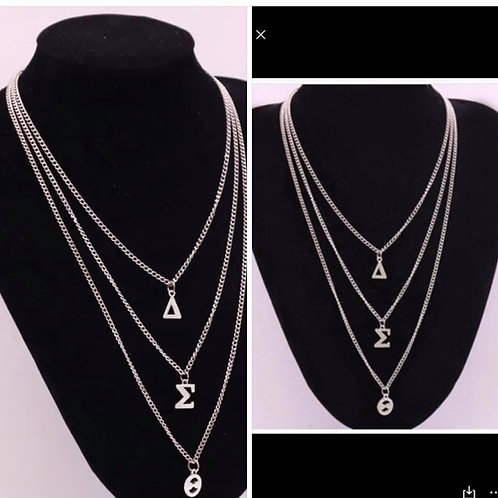 Silver 3 Tier Necklace