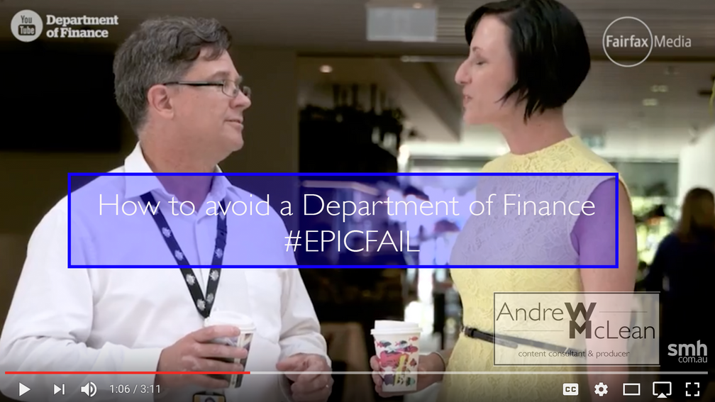 Learning from the Department of Finance #epicfail - how it could have been a success.