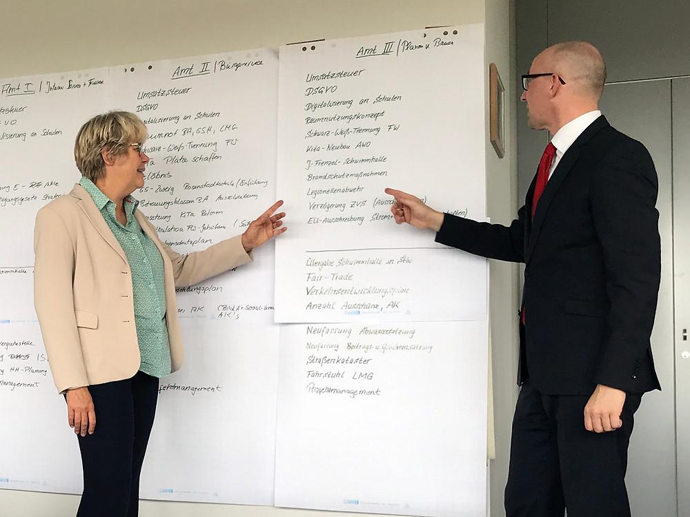 Andrea Hansen und Dirk Woschei