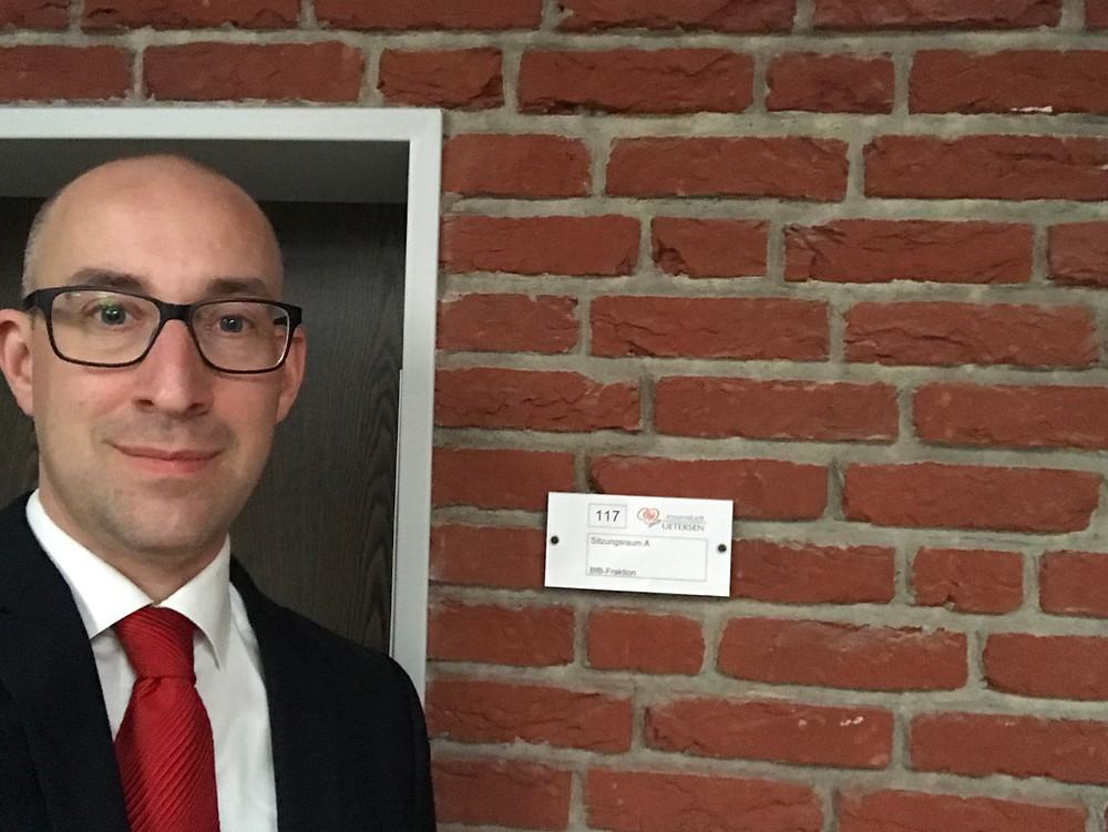 Dirk Woschei bei der BfB-Fraktion