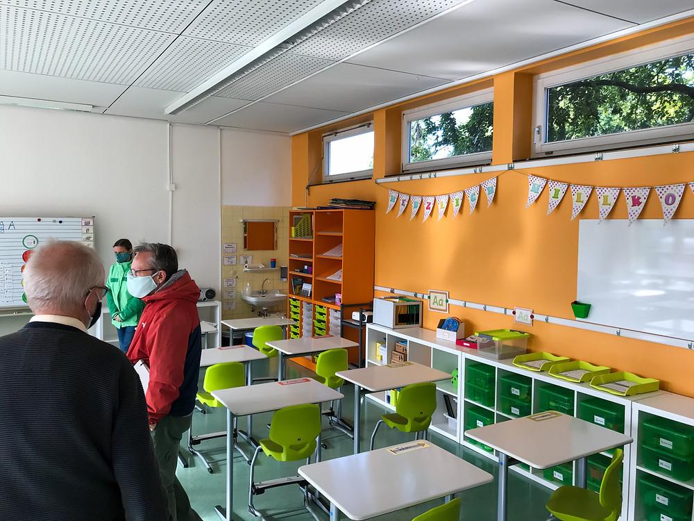 Die neu gestalteten Klassenräume für die Grundschule in der Rosenstadtschule