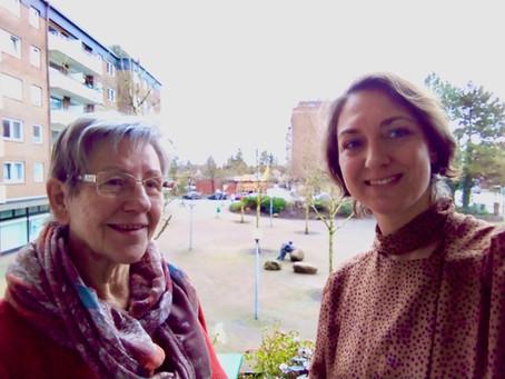 Treffen mit Christel Stubbe vom Einwohnerverein Rhen
